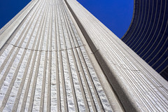 City Hall Detail (josullivan.59) Tags: travel shadow wallpaper urban white toronto canada abstract detail texture geometric architecture downtown day skyscrapers cityhall clear minimalism artisitic torontocityhall 3exp canon6d
