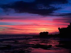 IMG_0883 (CedricSun) Tags: ocean blue sunset red bali cloud beach indonesia tanahlot