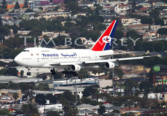 Unforgetable Moment (timbowrey) Tags: plane los angeles air boeing lax spotting airtoair klax a2a yemenia 747sp