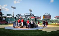 On the field for batting practice (hickamorehackamore) Tags: summer boston canon ma massachusetts redsox july fenway fenwaypark battingpractice 2014
