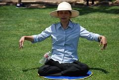 Tai Chi - Meditation ? (ZenzenOK) Tags: pose asian nikon downtown dof sandiego candid chinese zen embarcadero meditation taichi d80 zenzenok