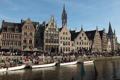 Graslei, Gent (twiga_swala) Tags: houses canal east ghent gent renaissance guild gand graslei leie gante flanders gothik vlaanderen vlaamse oostvlaanderen kaai flandes brabantse gildehuizen gildhuizen
