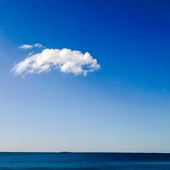 Вот такой рабочий понедельник в #Veeam #repino #clouds #sea #nature #blue