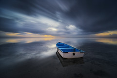Out of the Darkness [Explored] (eggysayoga) Tags: longexposure blue bali orange seascape reflection beach yellow photoshop sunrise dark indonesia landscape boat nikon asia darkness cloudy bs ss hard symmetry tokina filter le 09 lee nd slowshutter fullframe fx perahu pantai graduated sanur karang lightroom dxlens slowspeed kapal gnd jukung d810 1116mm bigstopper dxonfullframe fxbody