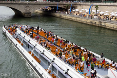 Paris plage 2014 (Oric1) Tags: bridge paris seine river boat pont plage tourisme parisfrance fleuve bateaumouche napolon conciergerieseineparisfranceoric1 franceoric1