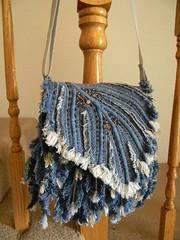 Denim Feathers bag-2 (Allochka2012) Tags: bag feather denim shoulderbag