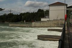 Elektrizittswerk Reckingen ( Kraftwerk - Rheinkraftwerk - Laufwasserkraftwerk => Baujahr 1938 - 1941 ) im Rhein ( Hochrhein - Fluss - River ) bei Reckingen in Deutschland und Mellikon im Kanton Aargau in der Schweiz (chrchr_75) Tags: chriguhurnibluemailch christoph hurni schweiz suisse switzerland svizzera suissa swiss chrchr chrchr75 chrigu chriguhurni 1408 august 2014 hurni140817 august2014 rhein rhin reno rijn rhenus rhine rin strom europa albumrhein fluss river joki rivire fiume  rivier rzeka rio flod ro