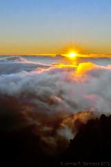 Haleakala Sunrise 11-13-2013, Version 2 (Zeta_Ori) Tags: morning sun clouds sunrise island dawn volcano hawaii islands morninglight maui haleakala crater caldera daybreak d90 nikond90