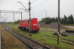 DBSRP T448p-059 , Jaszczw train station 12.08.2014 (szogun000) Tags: railroad station canon diesel engine poland polska rail railway locomotive locomotora lokomotive switcher pkp shunter locomotiva  lokomotywa lubelszczyzna lubelskie spalinowz t448p kdpraha d297 canoneos550d canonefs18135mmf3556is dbschenkerpl jaszczw dbsrp t448p059
