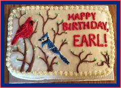 Birds cake by Whitney, Linn County, IA, www.birthdaycakes4free.com