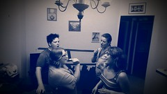 White People + Alcohol + Journey = (Kenneth Wesley Earley) Tags: saturdaynight dontstopbelieving 99205 blueandwhitephoto