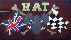 RAT (micky the pixel) Tags: auto door car race germany deutschland sticker rat fark mini cooper ratte unionjack tür flagge reden saarland landsweiler