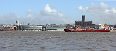Loya on the river mersey (pelpa_666) Tags: seascape liverpool canon river ship birkenhead mersey tanker wirral merseyside cathegral 550d