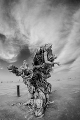 20140829-BRC_2014-122 (level twenty three) Tags: blue blackandwhite bw art portraits fire desert nevada playa burningman blackrockcity brc blackrock burningman2014 burningmanbw
