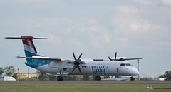 LUXAIR [CDG] (Orekaman) Tags: plane airplane airport aircraft aeroport avion cdg luxair 2014 lfpg lxlgg dehavillanddhc