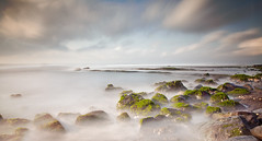 The way of the clouds (Nomadic-Imagery) Tags: longexposure sea bali mist motion green water clouds indonesia island coast rocks rocky motionblur coastal coastline algae sweeping seawater photographiceffects bw10stopndfilter canoneos5dmark2 canon24105mmf4lislens