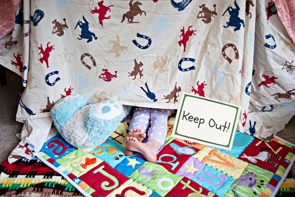 Keep Out! sign on an Indoor Fort For Kid by PersonalCreations.com, on Flickr