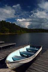 DSC_0200-001 (samX_29) Tags: clouds boat dock rowboat clearingstorm pinelakecamp