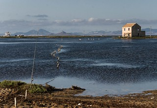 Los Ventorrillos del Mar Menor - The house of the fisherman stock