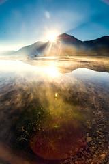 Warmed by the Sun - Lake Kintamani, Bali (Ricky Nugraha) Tags: morning bali mist lake sunrise songan kintamani abang mountkintamani trunyan terunyan danaukintamani