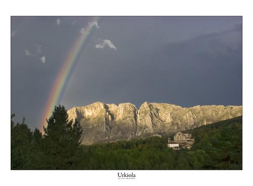 Arco iris en Urkiola