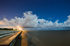 Sept 11 (rowe_rosemary) Tags: longexposure nightphotography beach night mississippi stars landscape nightscape south moonlit nikond3200 waterdront