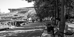Seawall (tinayeung_) Tags: street bw vancouver photography blackwhite downtown seawall a6000 selp1650