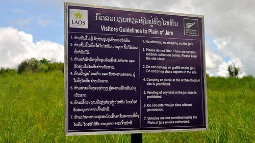 Visitors Guidelines to Plain of Jars, Xiang Khouang Province, Laos