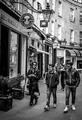 Bridge in Cambridge (JiriJerabek) Tags: street uk cambridge england people blackandwhite bw man male men students walking blackwhite unitedkingdom candid young streetphotography tourists streetphoto cambridgeshire youngmen walkinginthestreet weekendincambridge cambridgestreets