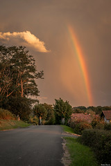 Sunset in Euskadi #3 (Jérôme Cousin) Tags: en cloud clouds rainbow nikon arc 64 ciel 28 nuage nuages tamron pays basque euskadi pyrenees euskal herria atlantiques 2470 herri d700