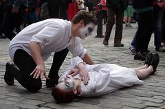 Over the Victim (MalB) Tags: festival scotland edinburgh pentax fringe dracula royalmile k5 4theatreproductions