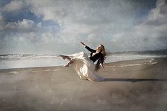 Suspension (lifecapturedbyneen) Tags: beach clouds stars coast dream longhair levitation suspended raglan float fineartphotography whimsicalart conceptualphotography fairytalephotography