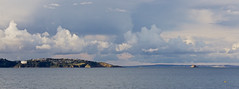Torbay viewed from Brixham (johnruscombe1965) Tags: ocean greatbritain england sky seascape clouds landscape coast skies unitedkingdom devon maritime torquay brixham torbay fluffyclouds thatchersrock