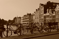 Isn't she lovely? (francescasiccardi95) Tags: houses holland netherlands amsterdam canal nederland bikes case lovely olanda canale biciclette paesibassi
