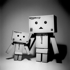 Retro 365 - Day #145 (cazphoto.co.uk) Tags: tlr film monochrome toys mono friendship cardboard vintagecamera twinlensreflex danbo amazoncojp filmproject rolleinar2 yashica44lm 127rollfilm retro365 bigdanbo yashinon60mmf35 rerapan100 250515 2015th56