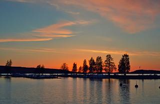 After sunset. Lake Vesijärvi
