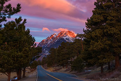 Sunrise Rocky Mountain National Park (Amy Hudechek Photography) Tags: landscape sunrise nature road rocky mountain national park colorado morning rmnp winter march snow trees forest amy hudechek