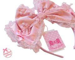 Dolly Pearl Headbow (callistamarie) Tags: angelicpretty ap lolita lolitafashion headbow bow lolitabrand brand fashion pearl silk lace haul angelicprettyusa blog blogger lolitablog
