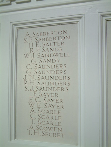 St Margaret Lowestoft War Memorial Chapel -  Sabberton to Secret