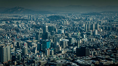 Seoul Top view (5AAAAM) Tags: city travel sky bird tower asian high nikon asia cityscape top south cityscapes korea korean seoul skytower southkorea scape topview scapes seoultower birdeyesview 18105mm nikond90