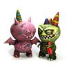 ConfettiBat_&_Giggleosaur (Leecifer/lgajda) Tags: giantrobot toys artshow uglydoll icebat chupacabra gr2 vinyltoys leecifer uglycon