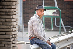 Just another weekday (Jeff Hayward (@pointandwrite)) Tags: street man candid hats mad