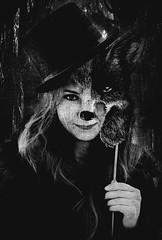 Dorota (Aleksandra Sawicka) Tags: wild woman animals forest photoshop graphics sweet creepy fox