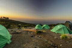Tents on the mountain (D.Camilleri) Tags: camping sunset mountain kilimanjaro sunrise landscape tanzania nikon f4 1224 d7100