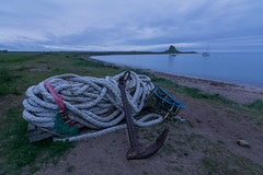 Holy Island - Rope and Anchor. (Callaghan69) Tags: uk longexposure morning castle sunrise dawn seaside rope northumberland le anchor holyisland lindisfarnecastle northeastengland northumberlandcoast tokina1116 nikond7100