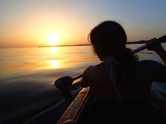 Paddling towards sunset (maryamhelmy) Tags: sunset summer woman sun lake hot water girl june boat couple kayak dream relaxing paddle lindau bregenz land bodensee paddling magical lakeofconstance dreilndereck summerfeelings towardssunset whatialwayswanted