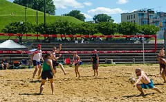 2014-07-04 BBV Hat Draw Tournament (35) (cmfgu) Tags: holiday net beach sports ball court md sand outdoor 4th july maryland baltimore tournament volleyball coed athlete fourth independenceday league 4s innerharbor fours bbv rashfield hatdraw