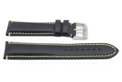 Hadley Roma 20mm Black and Yellow Men's Water Resistant Oil Tan Leather Watch Band Review (sarahalava) Tags: black roma water leather yellow watch review band mens hadley 20mm resistant