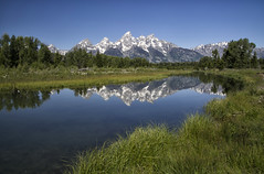 Schawbacher's Landing (laura's Point of View) Tags: summer mountains reflection nature river jackson wyoming nationalparks jacksonhole grandtetonnationalpark gtnp schawbacherslanding lauraspointofview lauraspov