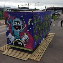 Katutaidevaunu Tullikirjurissa heinäkuun ajan. #helgraffiti #katutaidevaunu